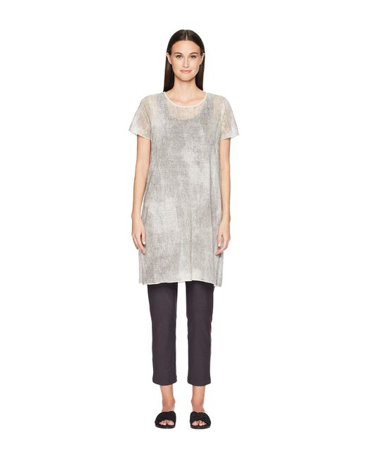 Eileen Fisher - Multicolor Roundneck Tunic - Lyst