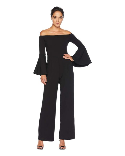 Alexia Admor - Black Ruffle Sleeve Off The Shoulder Jumpsuit - Lyst