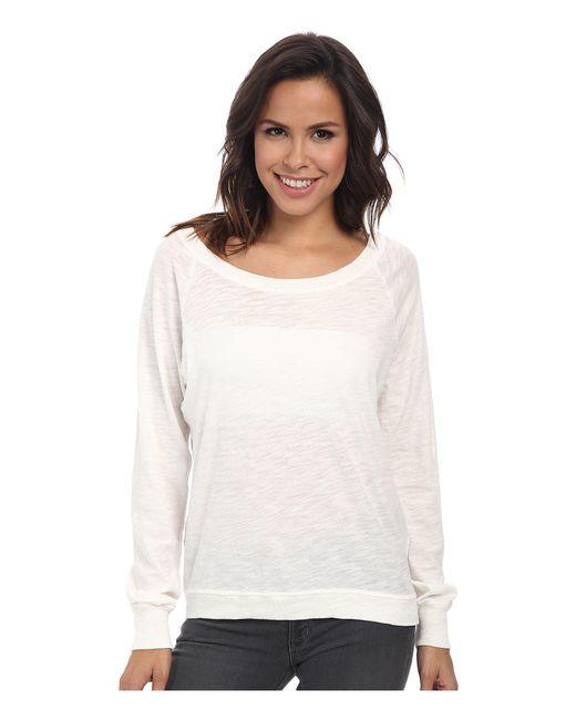 Alternative Apparel - White Slub Slouchy Pullover - Lyst