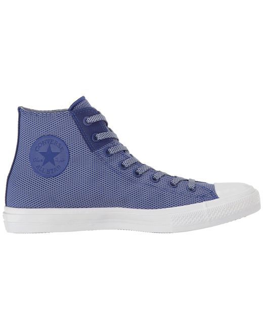 16493e4b09a7 ... Converse - Blue Chuck Taylor® All Star® Chuck Ii Woven Hi - Lyst ...