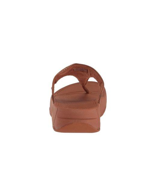 2aacce12f536 ... Fitflop - Brown Lulu Aztek Stud Toe-thong Sandals-suede - Lyst ...