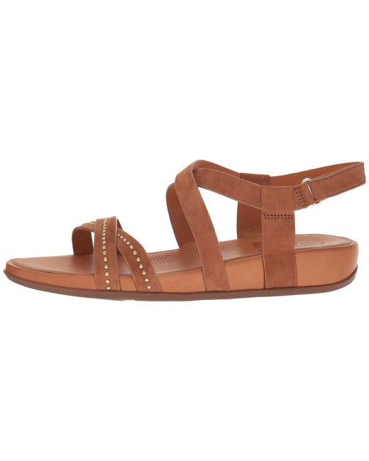 acdea776d002 Lyst - Fitflop Lumy Crisscross Sandals W  Studs in Brown - Save 21%