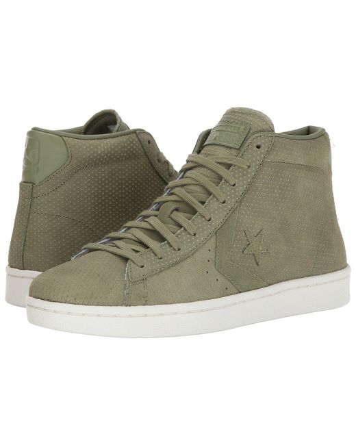 Converse | Green Pro Leather 76 Mid for Men | Lyst