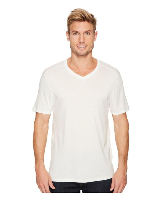 Agave - White Cory Short Sleeve V-neck Tee for Men - Lyst