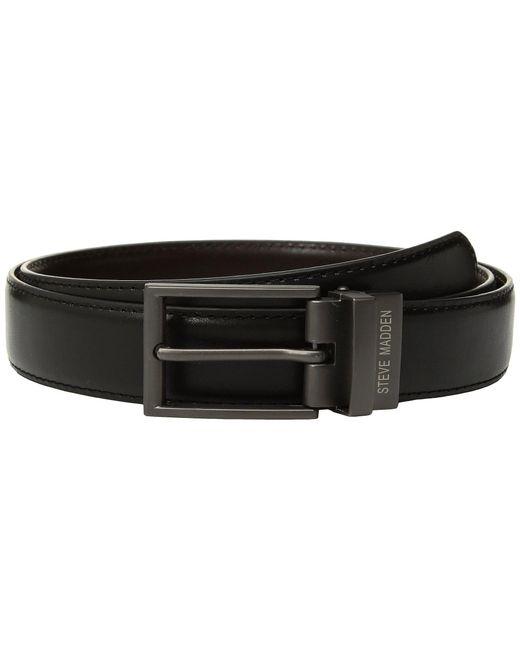 Steve Madden - Black 32mm Smooth Reversible Belt for Men - Lyst