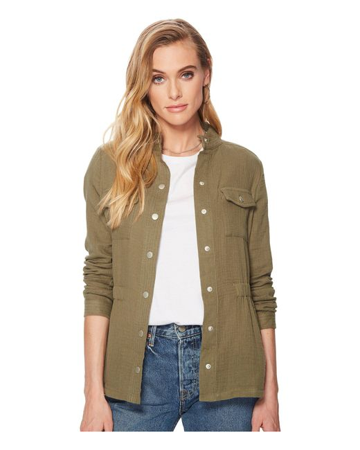 Jack BB Dakota - Green Burnell Cotton Gauze Utility Jacket - Lyst
