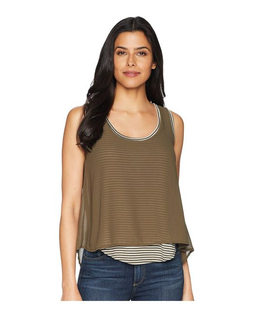 B Collection By Bobeau - Green Sydney Stripe Tank Top - Lyst