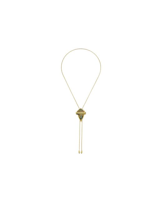House of Harlow 1960 - Metallic Pyramid Stone Adjustable Bolo Necklace - Lyst