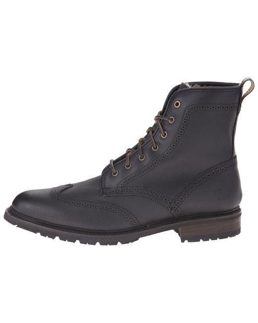 Lyst Frye James Lug Wingtip Boot Shearling In Black For