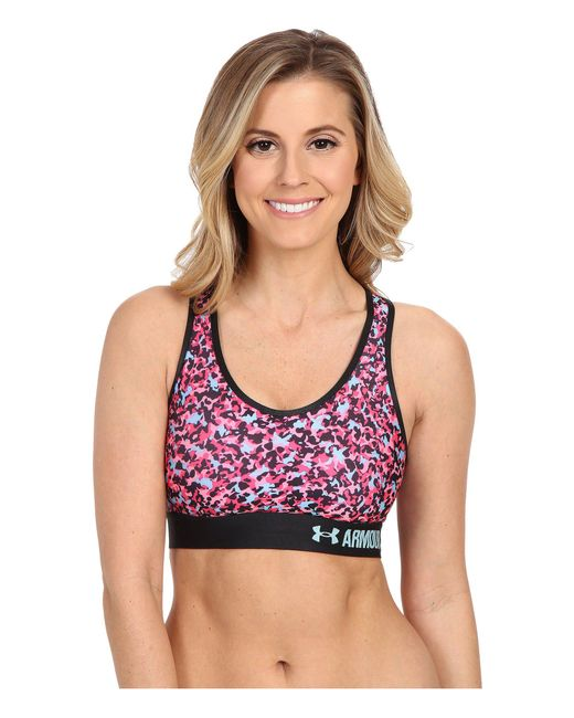 Under Armour - Pink Armour® Mid Bra - Printed - Lyst