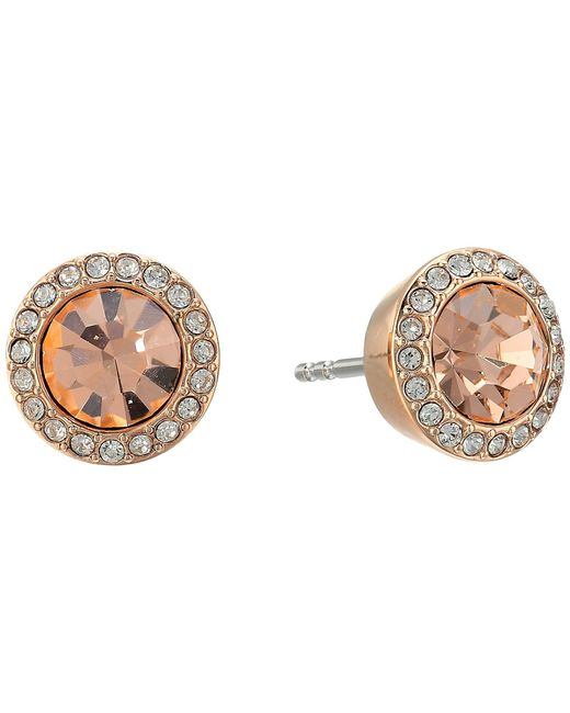 Michael Kors - Multicolor Clear Disk Studs - Lyst