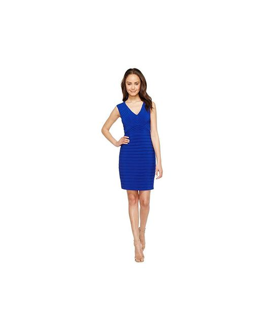 a580b6792507 Adrianna Papell - Blue Matte Jersey Banded Sheath Dress (ultramarine) Dress  - Lyst ...