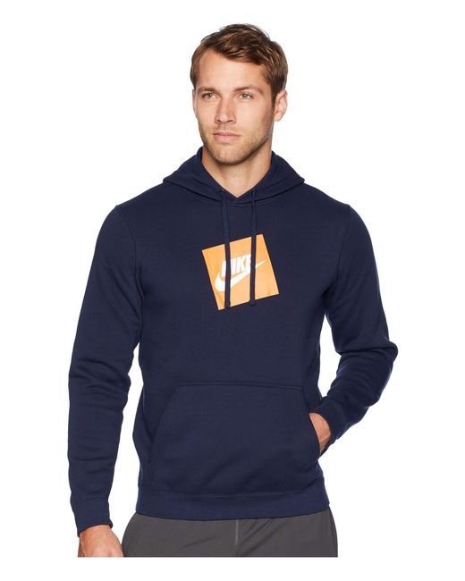 2073a55ac91b Nike - Blue Nsw Hybrid Hoodie Pullover Fleece for Men - Lyst ...
