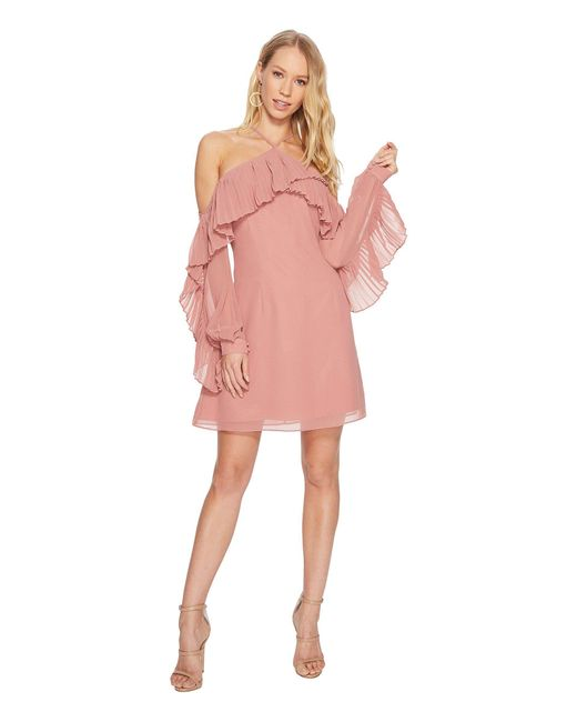b389e2fa3bf8 Lyst - Keepsake Last Dance Long Sleeve Mini Dress in Pink - Save 43%