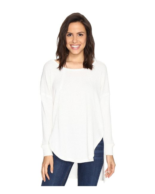 Culture Phit - White Luca Long Sleeve Thermal Top - Lyst