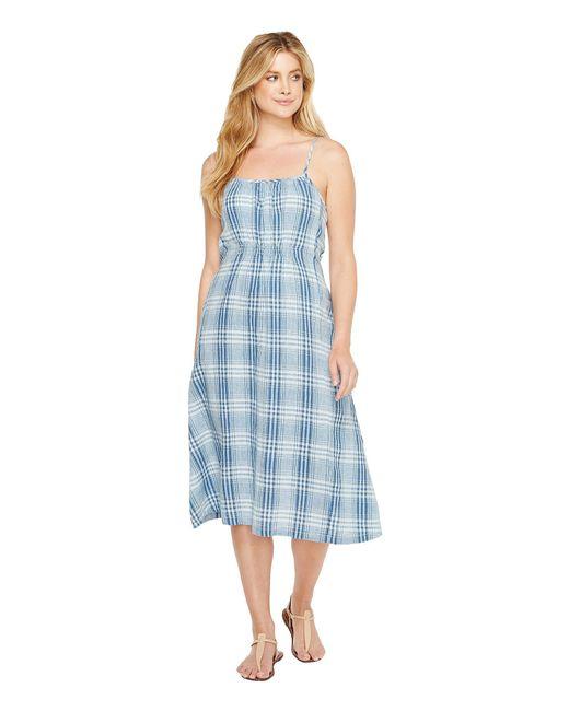 Dylan By True Grit - Blue Genuine Indigo Linens Bonita Slip Dress Denim Small Plaids - Lyst