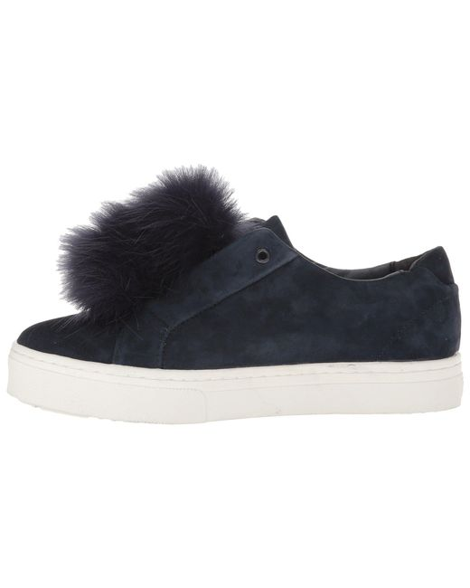 27edb4f2bd4eb8 Lyst - Sam Edelman  leya  Faux Fur Laceless Sneaker in Blue - Save 61%