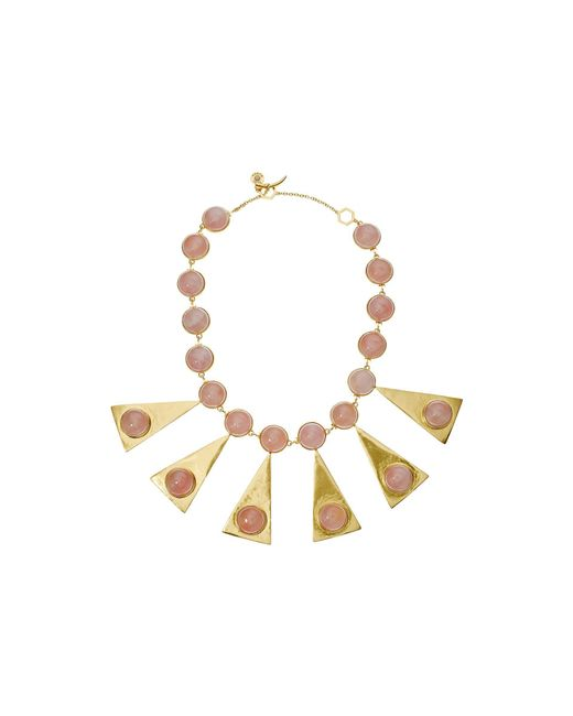 Tory Burch - Multicolor Triangle Stone Statement Necklace - Lyst