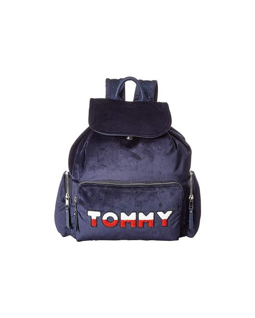13b2bb7f Tommy Hilfiger - Blue Nylon Flap Backpack (tommy Navy) Backpack Bags - Lyst  ...