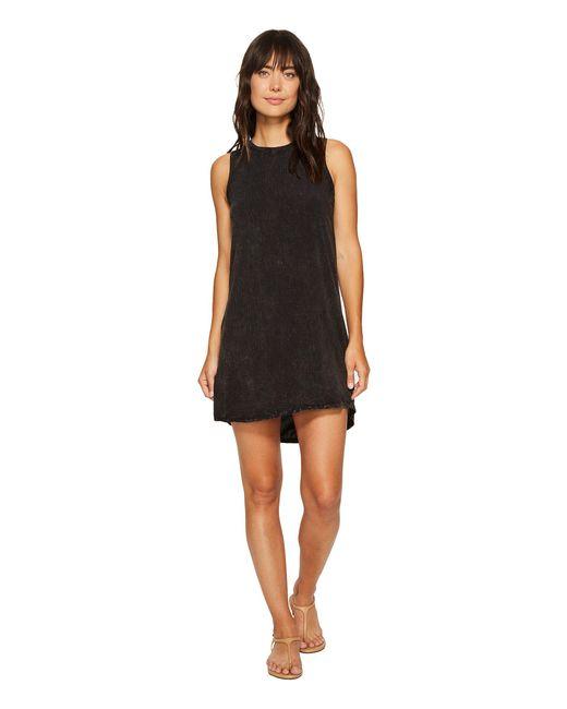 Allen Allen - Black High-low Tank Dress - Lyst