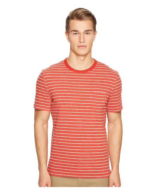 Jack Spade | Red Short Sleeve Striped Tee for Men | Lyst