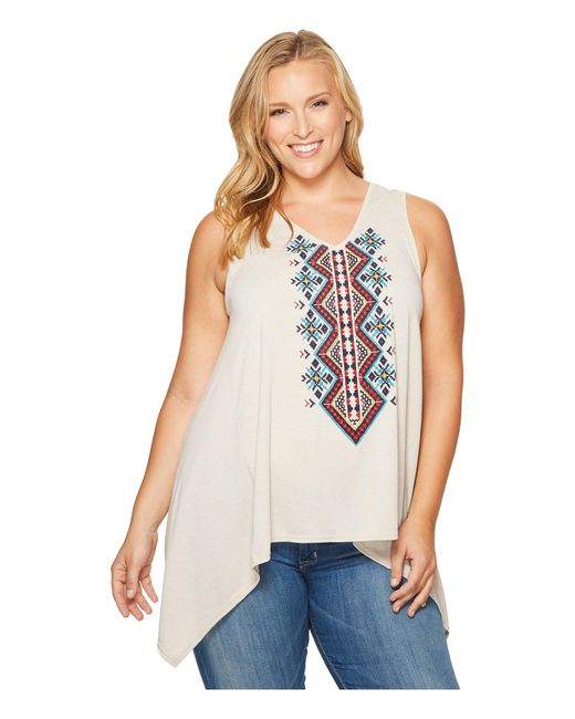 Roper - Brown Plus Size 1105 Poly Rayon Heather Jersey Tank Top - Lyst