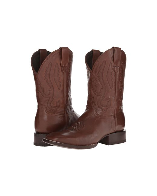 "Stetson - Brown Jbs Handmade 11"" Calvary Sq Toe Dbl Welt for Men - Lyst"