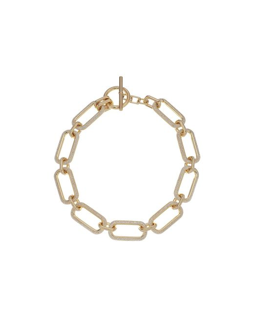 Michael Kors - Metallic Iconic Pave Link Statement Necklace - Lyst