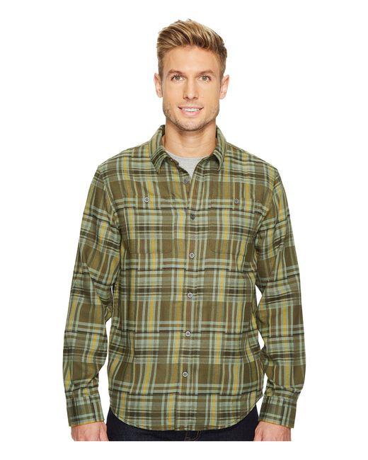 Prana - Green Stratford Long Sleeve Shirt for Men - Lyst