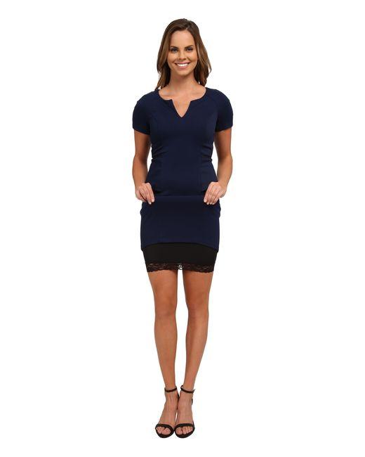 NYDJ | Blue Bridget Peplum Dress | Lyst