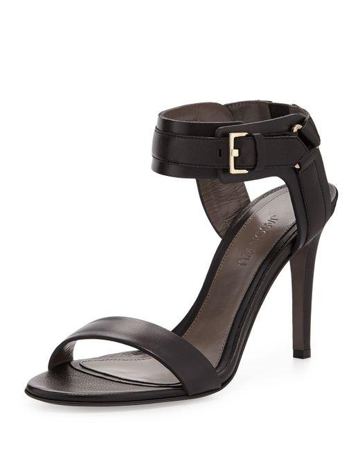 Jason Wu | Black Leather Ankle-Cuff Sandal | Lyst