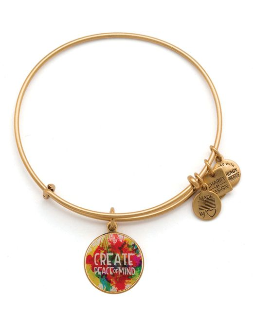 ALEX AND ANI | Metallic Peace Of Mind Expandable Wire Bangle, Charity By Design Collection | Lyst