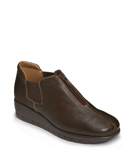 Aerosoles | Brown Landfall Leather Wedge Loafers | Lyst