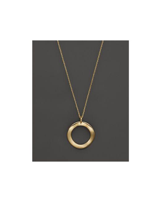 "Ippolita | Yellow 18k Gold Mini Wavy Circle Pendant Necklace, 16-18"" | Lyst"