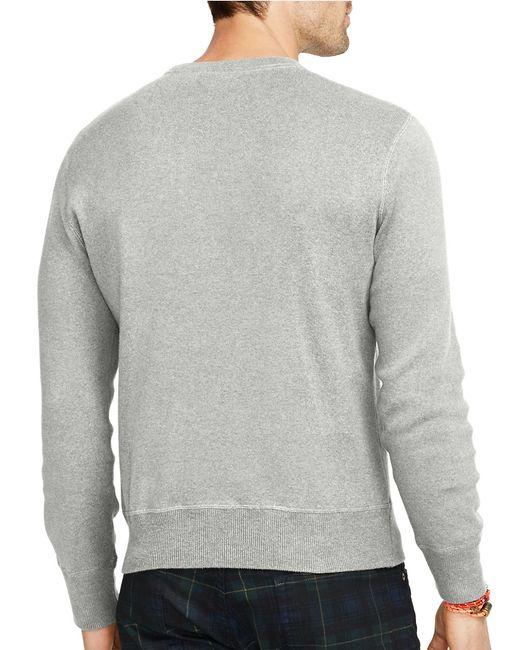 Polo Ralph Lauren | Gray Crewneck Sweatshirt for Men | Lyst
