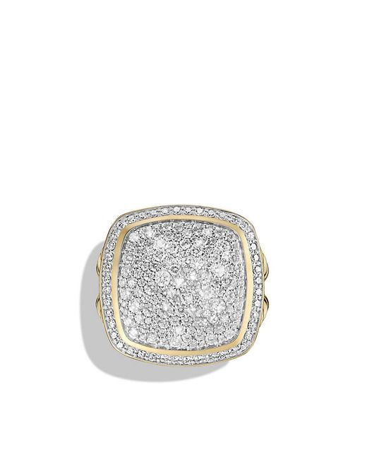 David Yurman | Metallic Ring With Diamonds In 18k Gold | Lyst