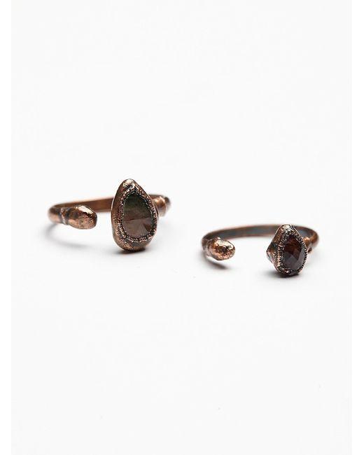 Free People | Metallic Droplet Tourmaline Ring | Lyst