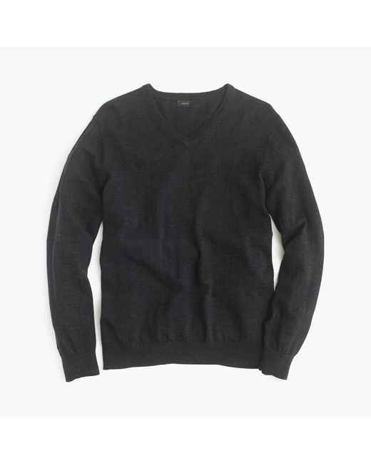J.Crew | Black Slim Rugged Cotton V-neck Sweater for Men | Lyst