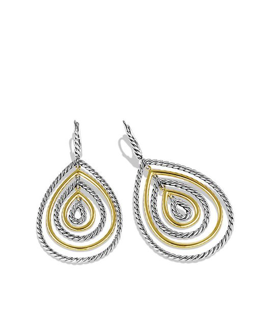 David Yurman | Metallic Mobile Drop Earrings With 14k Gold | Lyst