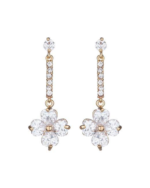 Mikey | Metallic Daisy Flower Long Drop Earring | Lyst