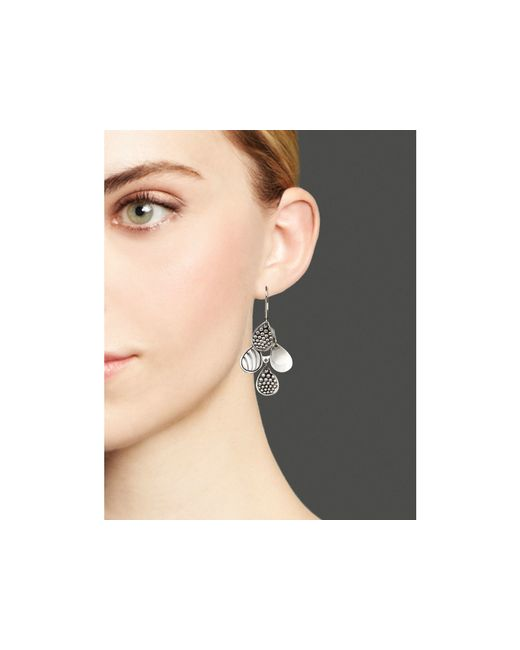 Lagos | Metallic Sterling Silver Signature Caviar Four Drop Earrings | Lyst