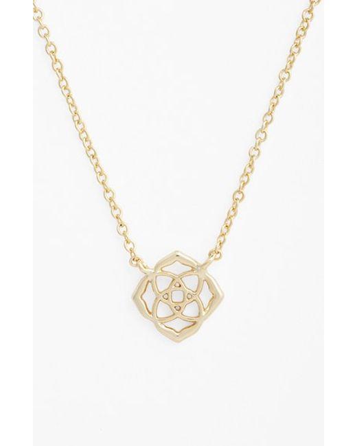 Kendra Scott Decklyn Pendant Necklace In Metallic Lyst