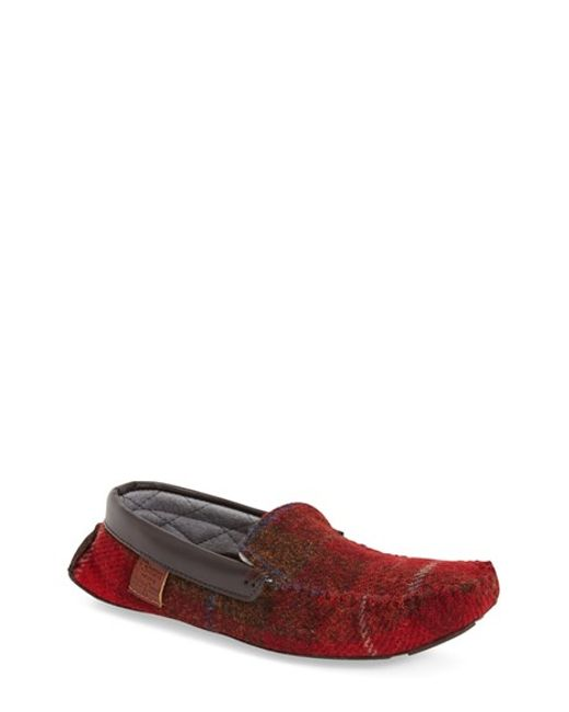 bedroom athletics 39 george 39 slipper in red for men red