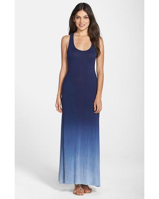 Fraiche By J | Blue Ombre Racerback Maxi Dress | Lyst
