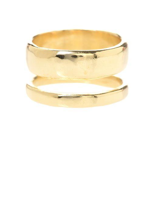 Jill Golden | Metallic Double Band Ring | Lyst