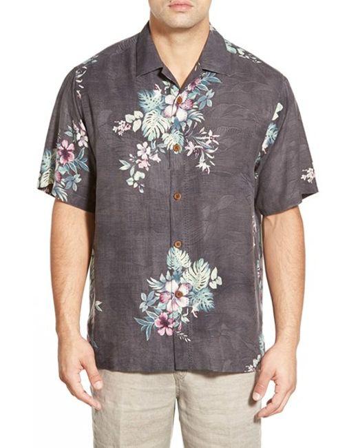 Tommy Bahama | Red 'moonlit Garden' Island Modern Fit Floral Print Silk Camp Shirt for Men | Lyst