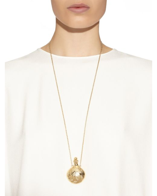 Aurelie Bidermann | Metallic Francoise Gold-plated Necklace | Lyst