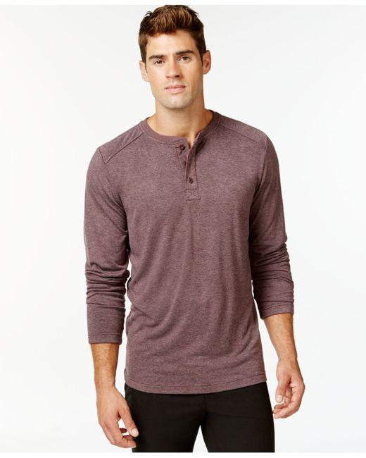 32 Degrees | Purple Heat Comfort Long-sleeve Henley for Men | Lyst
