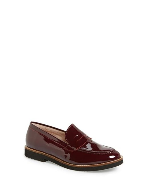 Andre Assous | Purple Jessi Patent-Leather Penny Loafers | Lyst