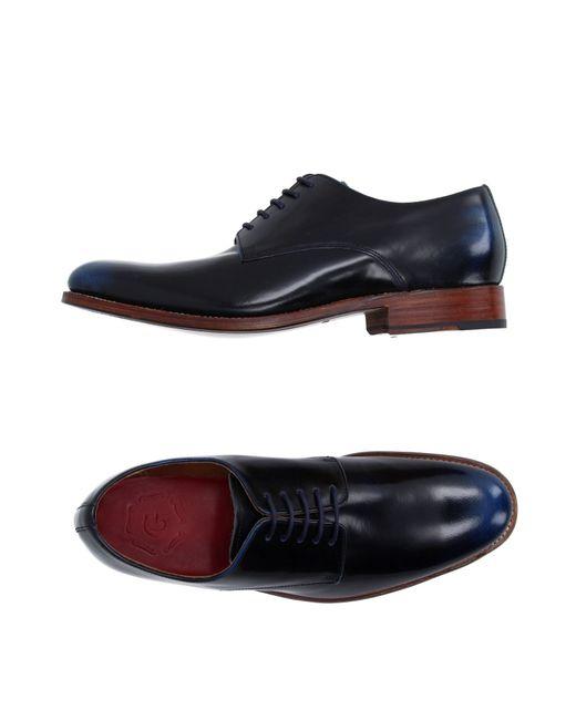 Grenson | Blue Lace-up Shoe for Men | Lyst